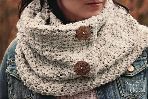 Star Stitch Infinity Scarf by Crochet by Jennifer