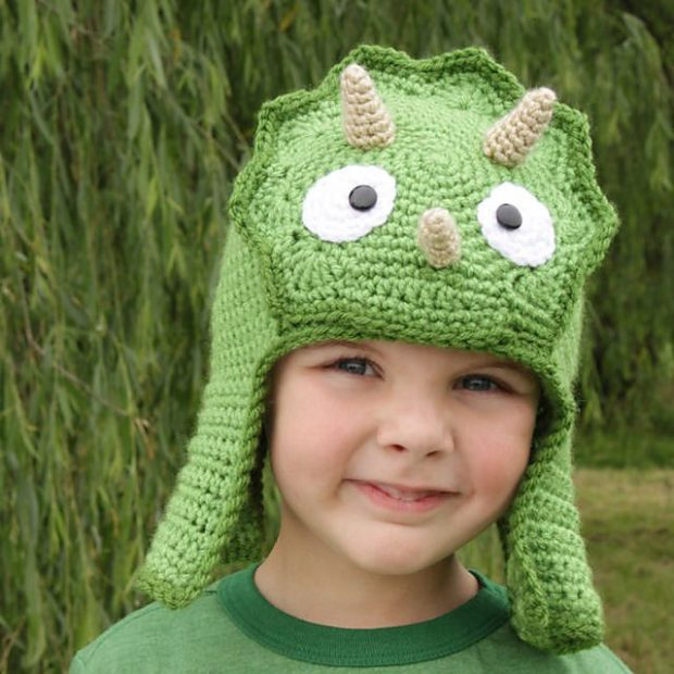 Worsted Weight Triceratops Hat by Micah Makes