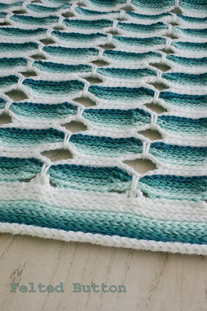 Candy Stick Blanket by Felted Button
