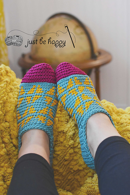 Fair Isle Slippers by Just Be Happy