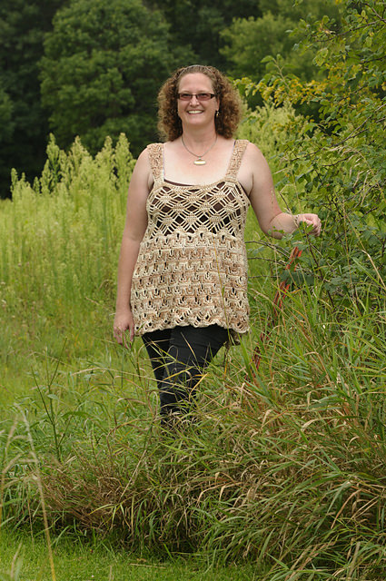 Lattice Lace Tank or Dress by Crafty Curl by Anne Bousselot