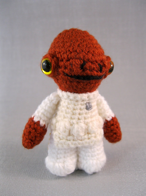 Admiral Ackbar - Star Wars Mini Amigurumi by Lucy Collin