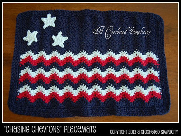Chasing Chevrons Placemat by Jennifer Pionk