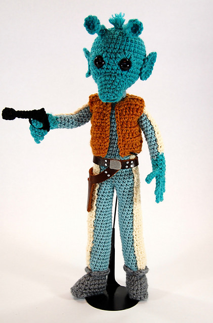 Greedo Star Wars Amigurumi Pattern by Allison Hoffman