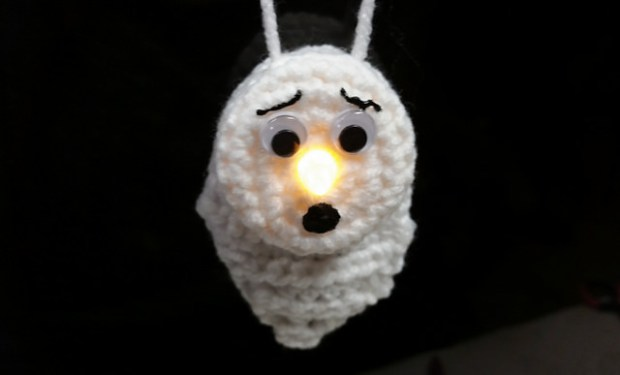 Lighted Ghost Ornament by Tracee Fromm