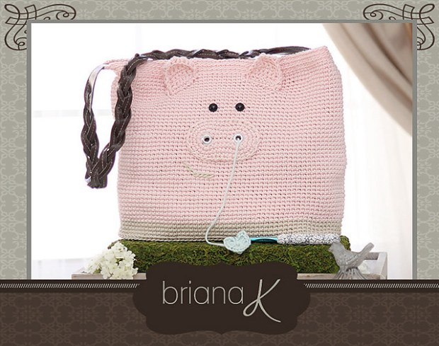 Pig Project Bag or Purse by Briana K