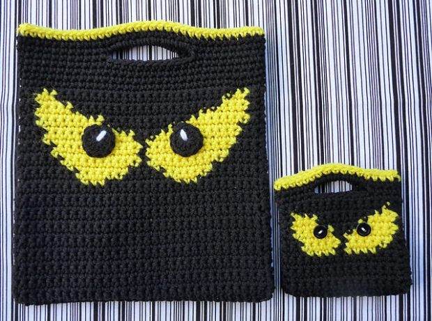 Spooky Eyes Halloween Bag Set by Doni Speigle
