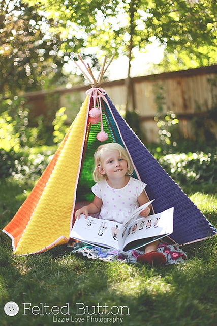 Toddler Teepee by The Felted Button