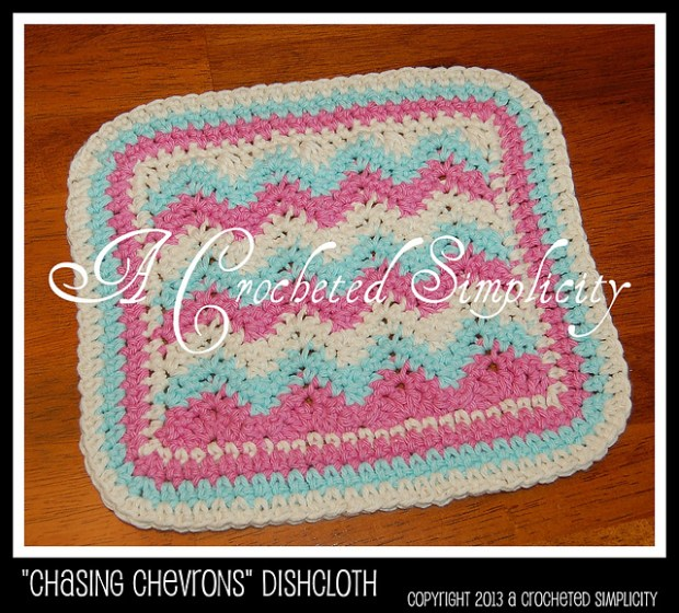 Chasing Chevrons Dishcloth by Jennifer Pionk