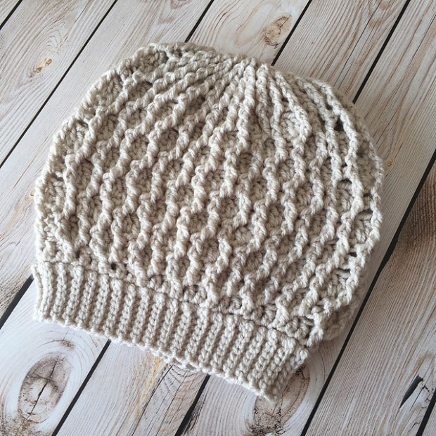 Chunky Honeycomb Ridges Slouch by Crochet by Jennifer -Jennifer Dougherty