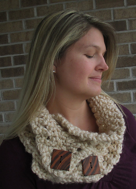 Knotted Threads Cowl by Jennifer Pionk- A Crocheted Simplicity