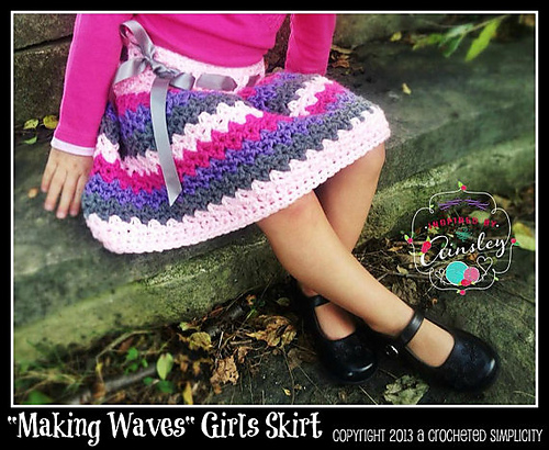 Making Waves Girls Skirt by Jennifer Pionk