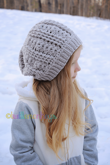 Wave Slouch Hat by Crochet by Jennifer -Jennifer Dougherty