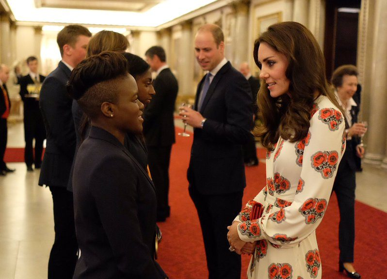 Will, Kate & Harry join The Queen for Olympic & Paralympic reception at the Palace