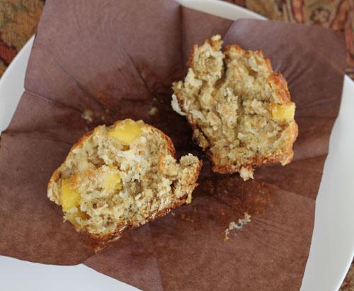 mango banana coconut muffins