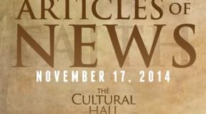 Articles of News/Week of November 17th