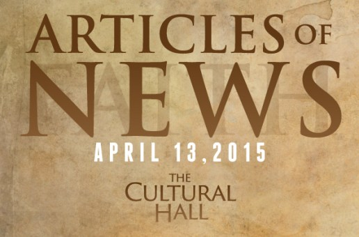 Articles of News/Week of April 13th