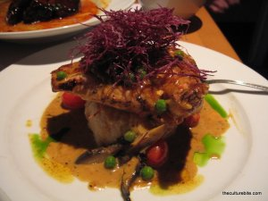 Chicken breast with roasted portabella white truffle oil sauce