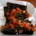 Korean kimchi tacos at Namu