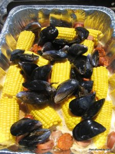 Tomales Bay Mussels Corn Sausage