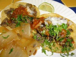Taqueria Vallarta Cabeza and Lengua Tacos