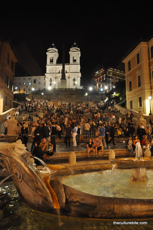 Rome Spanish Steps Night