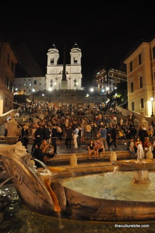 Rome Spanish Steps Night
