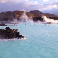 Soaking in the Blue Lagoon, Iceland