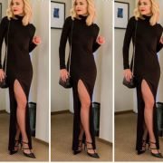 long_sleeve_high_slit_maxi_dress__mid_neck_extreme_side_split_midi_dress_black_1460117508_91a9238f