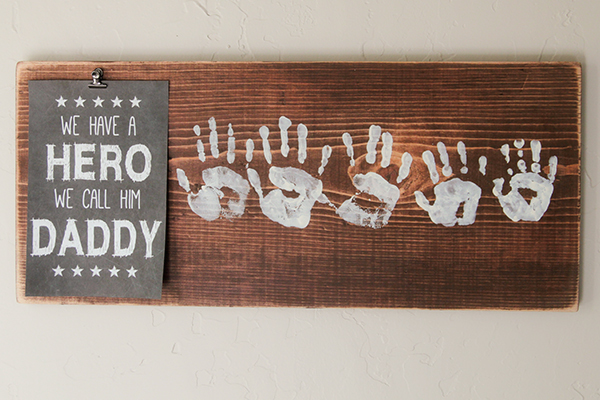 Father's Day handprints gift