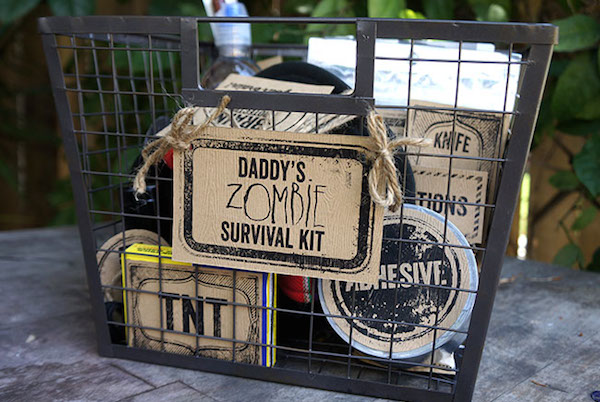 Father's Day zombie survival kit gift