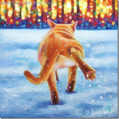 Baby Its Cold Outside Cat Painting