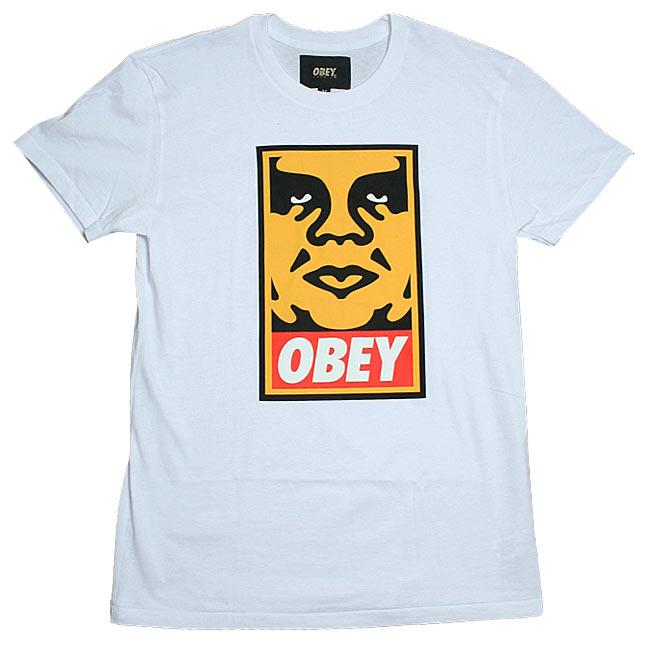obey_orangeiconfacetee_wht
