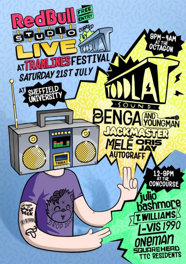 Red-Bull-Studio-Live-At-Tramlines-Festival-Poster