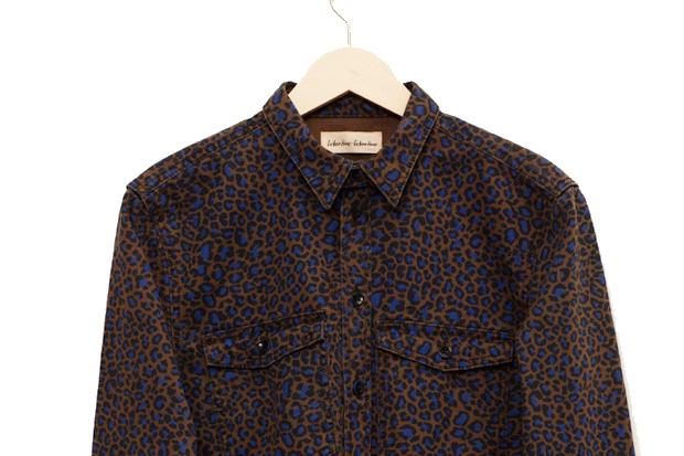 Libertine-Libertine-AW12-Howl-Shirt-Brown-Blue-Leopard-Print-02