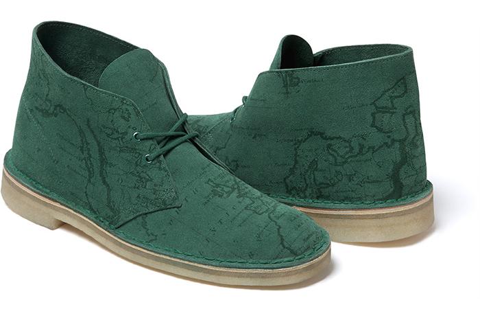 Supreme x Clarks Originals Map Suede Desert Boots 04