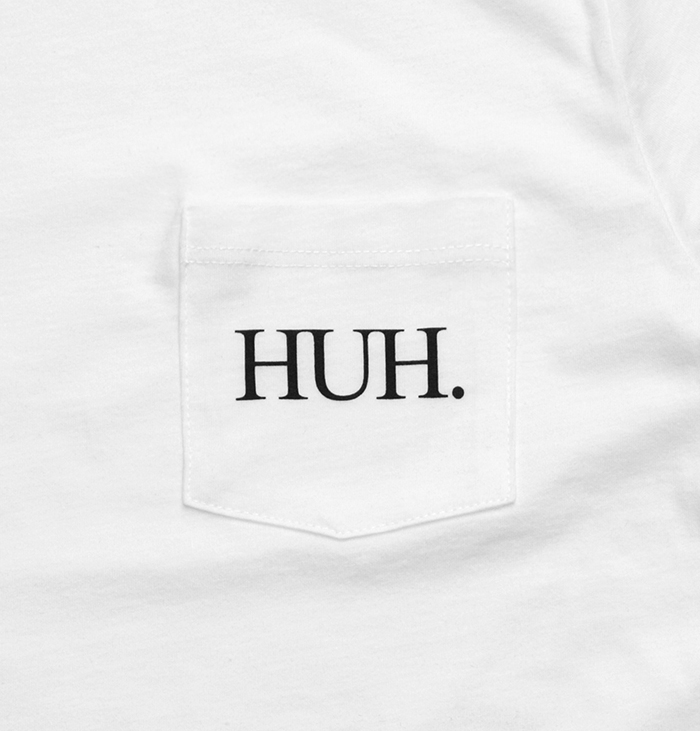 HUH logo pocket tees 05