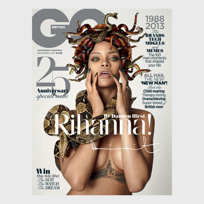 Rihanna by Damien Hirst for British GQs 25th Anniversary Issue 01