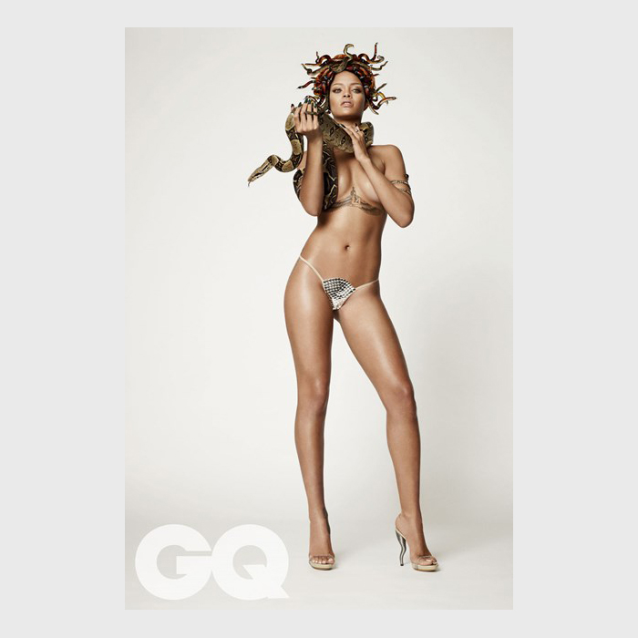 Rihanna by Damien Hirst for British GQs 25th Anniversary Issue 03