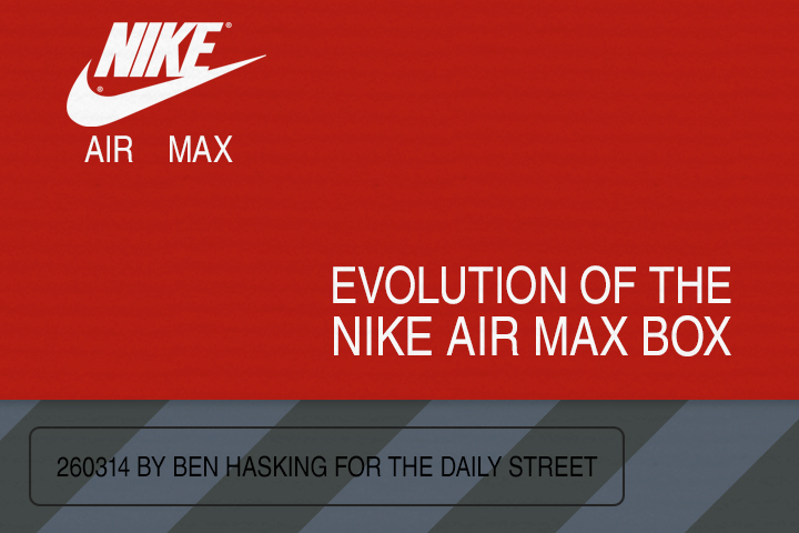 The evolution of the Nike Air Max box 1987 2014 Ben Hasking The Daily Street