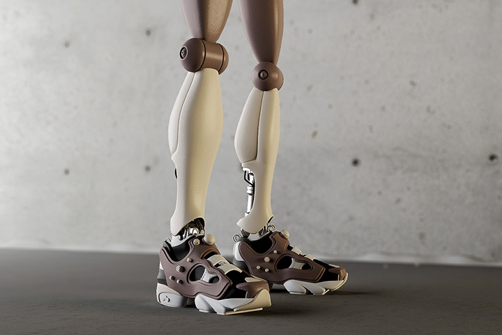 Retro Future Robotics robot sneakers simeon georgiev 01