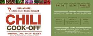 White Rock Local Market Chili Cook Off Set for April 27th