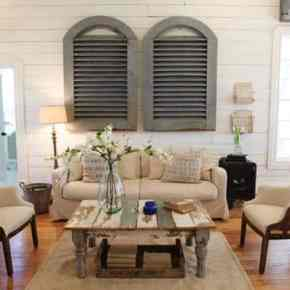 Fixer Upper Inspired Farm House Living Room