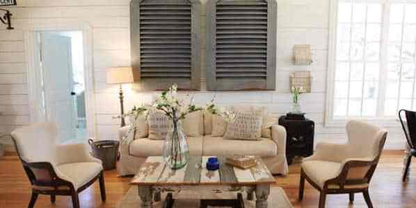 Fixer Upper Inspired Living Room