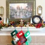 Ah the Christmas Mantel for 2012