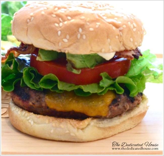 Kitchen Grilling Series Bacon Avocado Hamburger