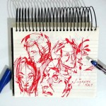 In the subway, don't look at your phone. Sketch! |TIP75