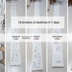 18 meters of sketches in 7 Days >> Roll of Paper Challenge |TIP93