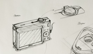 Camera product design life drawing  Good perspective construction