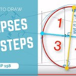 How to draw ellipses in perspective in 7 steps | TIP 158